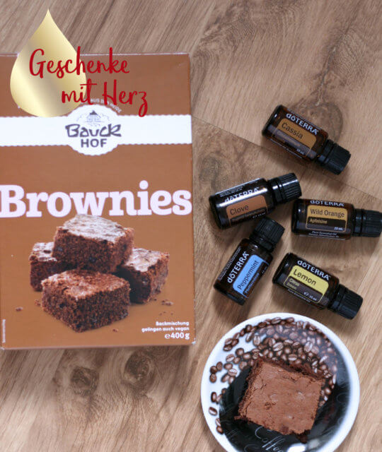 Backen Brownies ätherische Öle